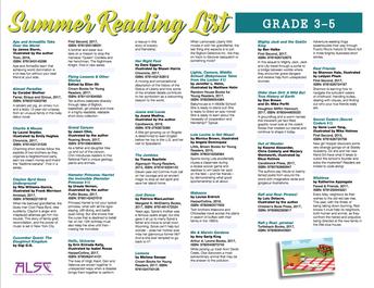 3-5 Summer Reading List