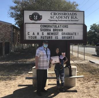 Teacher Timothy Driggers w/ Graduate Sierra Brown