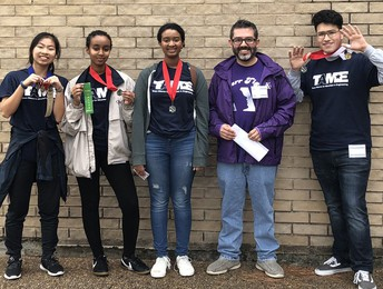 Alief ISD middle and high school students advanced to state competitions after placing in the Texas Alliance for Minorities in Engineering Divisional Competition at the University of Houston.