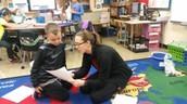 Mrs. Lucareli and Graysen review Graysen's math work together!