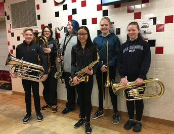 7th and 8th Grade Honor Band Students