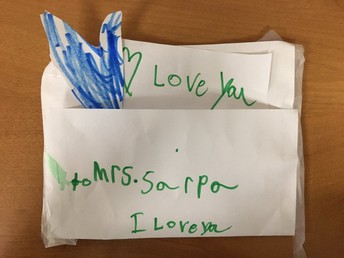 Kindergarten Love Note