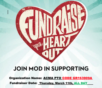 PTO Fundraiser - March 11th at MOD PIZZA