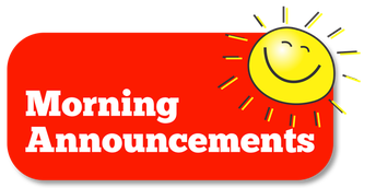 Weekly Announcements starring Ms. Martin