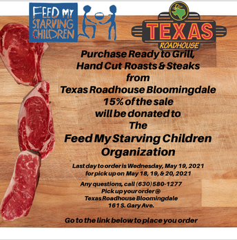 Feed My Starving Children - Texas Roadhouse Roasts & Steaks