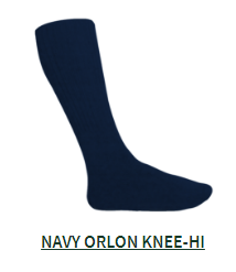 Navy Orlon Knee Sock