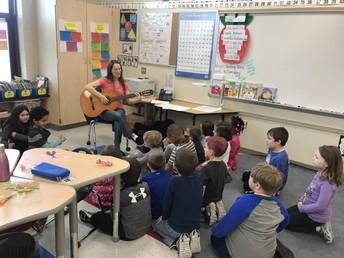 Miss Seuffert's Class Enjoys a Musical Mystery Reader