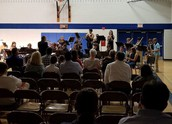 Jazz band closes out the band concert