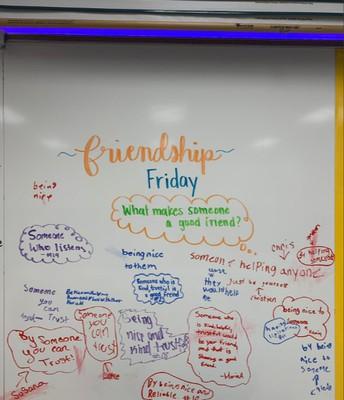 Friendship Fridays in Mrs. Thomas' Class