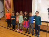3rd graders that received September Perfect Attendance Awards