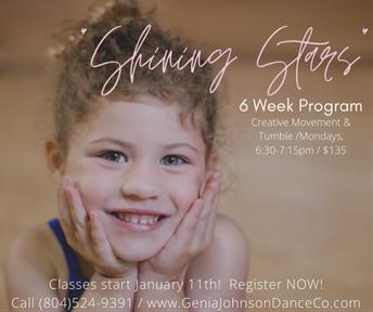 "* NEW * - 6 Week Class Sessions - ""Shining Stars"""