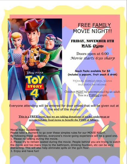 NAE Movie Night-Toy Story 4