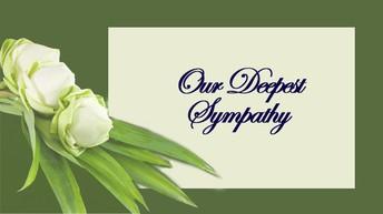 OUR SINCEREST SYMPATHY