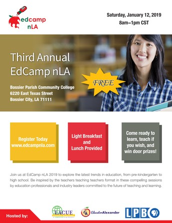 LAST CHANCE TO REGISTER FOR EDCAMP NLA! IT IS SATURDAY!