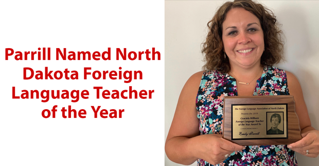 Parrill Named North Dakota Foreign Language Teacher of the Year