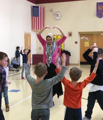 Dancing to YMCA!