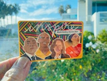Black History Month Library Card