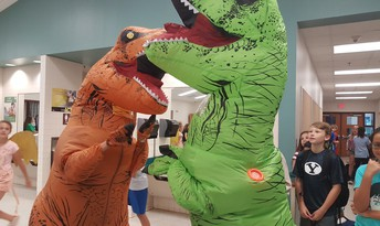 Dinos come to school