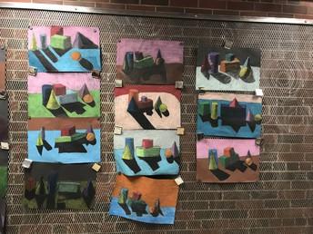 Student Artwork Displayed