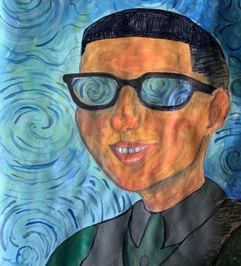 color portrait of person wearing sunglasses