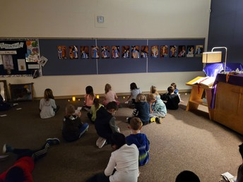 2L in the chapel for Stations of the Cross