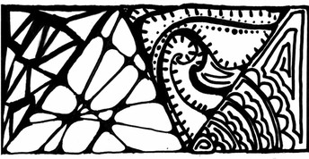 Zentangle drawing by Remy