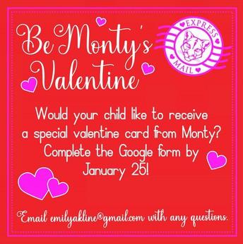 Be Monty's Valentine