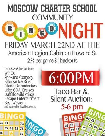 BINGO Night is TONIGHT!