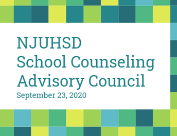 NJUHSD School Counseling Advisory Council