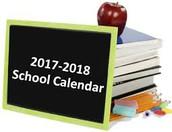 RCSHS School District Calendar 2017-2018