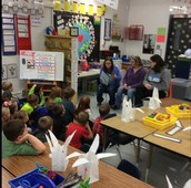 National Honor Society reads to class