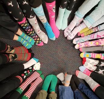 ...honoring President Bush with crazy socks!