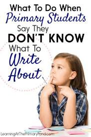 """""""I Don't Know What to Write About"""" - Topic Generation in the Virtual Classroom"""