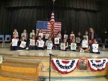 Boyden students honoring veterans