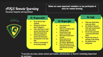Student Expectations for Remote Learning