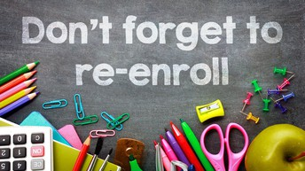 Have you re-enrolled your student(s) for the 2021-2022 school year?