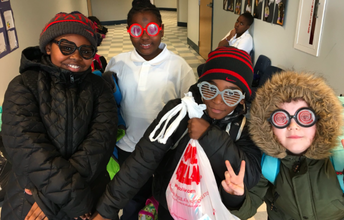 Grade 2 is styling in their 100th day sunglasses!