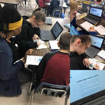 Mrs. Franklin's Class researching hurricanes