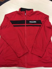 Men's Track Jacket-Red and Black