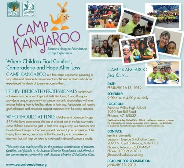 Camp Kangaroo Flyer