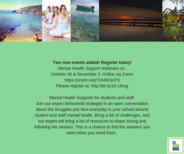 Mental Health Supports for students and staff