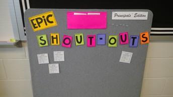 EPIC Shout Outs