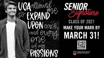 Spring, Summer, and Fall 2021 Graduates Eligible for Senior Signature