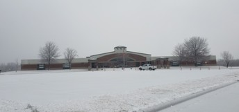 Wintery day @ HTMS.  Thank you Mr. Jason and all Custodial and Maintenance Staff