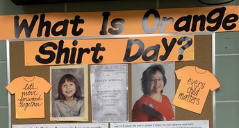 Classes continue their learning about residential schools on Orange Shirt Day