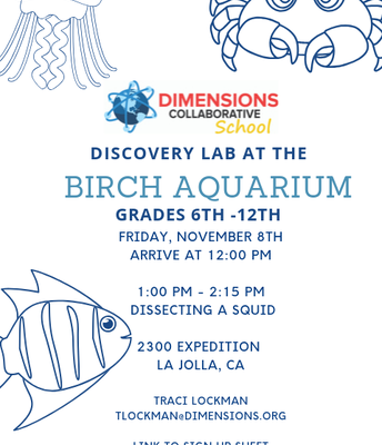 Discovery  Lab at the Birch Aquarium