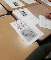 Discussing political cartoons in Social Studies