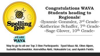 Congratulations to WAVA Spelling Bee Finalists