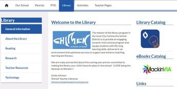 Shimek Library Website