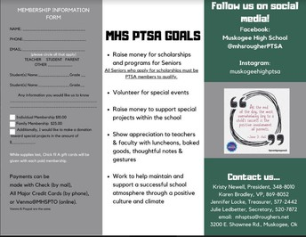 Note from the Muskogee High School PTSA